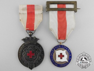 Two Spanish Red Cross Medals