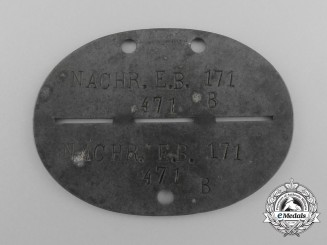 A Second War German Infantry Identification Tag