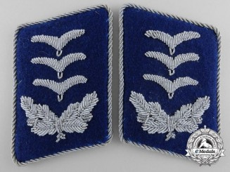 Luftwaffe Medical Unit Hauptmann's Collar Tabs