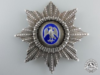 An Icelandic Order of Falcon; Commander's Star Type I (1921-1944)