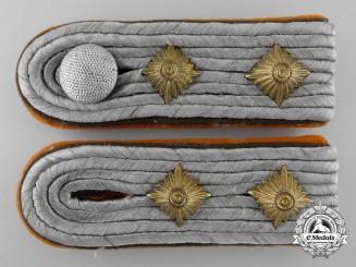 A Gendarmerie Precinct Captain (Revier Hauptmann) Shoulder Board Pair