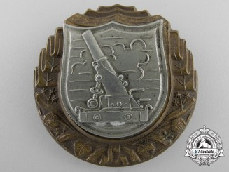 A First War Austrian Heavy Cannon Qualification Badge
