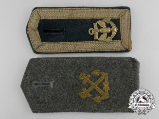 Two Coastal Artillery Shoulder Boards