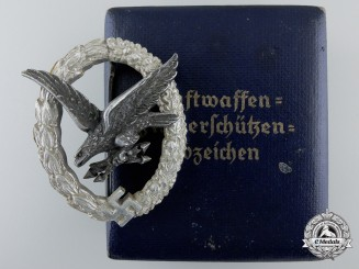 An Aluminum Luftwaffe Radio Operator & Air Gunner Badge by Juncker
