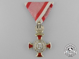 A Type II First Class Austrian Cross of Merit with Crown