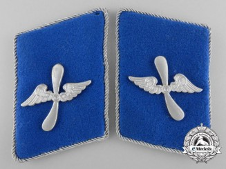 A Set of D.L.V. German Air-sport; Glider Section Collar Tabs 1935-37