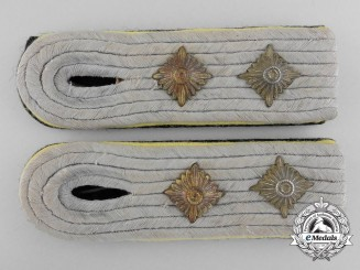 Germany, SS. A Pair of SS-Hauptsturmführer (Signals) Shoulder Boards
