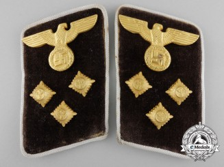 An NSDAP District Level Action Leader Collar Pair