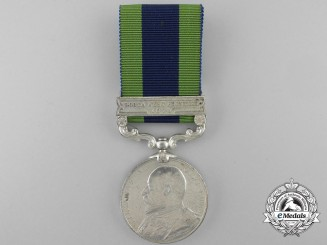 An India General Service Medal to the Royal Warwickshire Regiment; KIA 1915