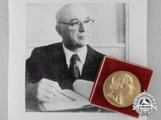 Soviet Union; Russia. An Award Group to Angel T. Balevski; Recipient of the Lomonosov Medal