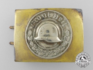 A German Front Heil Veteran's Association Belt Buckle