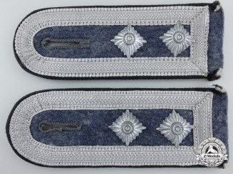 A Pair of Luftwaffe Construction Oberfeldwebel's Shoulder Straps