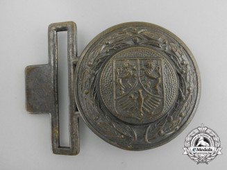 A Hesse Nassau Fire Defence Service Officer's Belt Buckle; Published Example