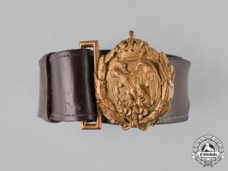 Italy, Kingdom. A Military Aviation Corps Belt with Buckle, c.1915