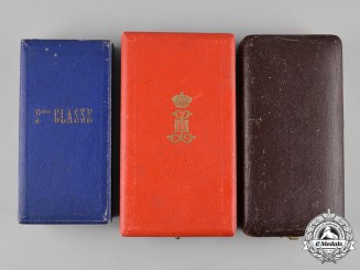 Belgium, Kingdom. Three Medal Cases