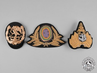 Brazil, Mexico, Thailand. Three Cap Badges