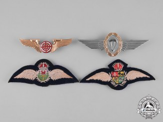 China, Germany, Rhodesia, South Africa. Four Air Force Badges