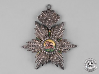 Iran, Pahlavi Empire. An Imperial Order of the Lion and the Sun, III Class Commander
