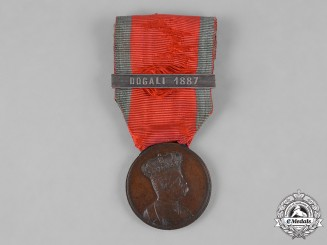 Italy, Kingdom. An Africa Campaigns Medal, Dogali Bar
