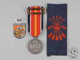 Spain, Francoist Era. Three Spanish Civil War Era Items
