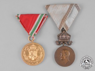 Bulgaria, Kingdom. Two Medals & Awards
