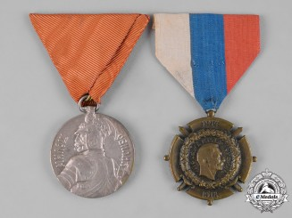 Serbia, Kingdom. Two Awards & Decorations