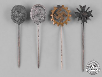 Germany, Third Reich. A Lot of Second War Period Stickpins