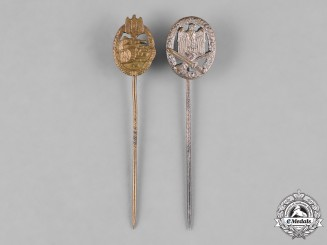 Germany, Wehrmacht. A Pair of Wehrmacht Stick Pin Medals