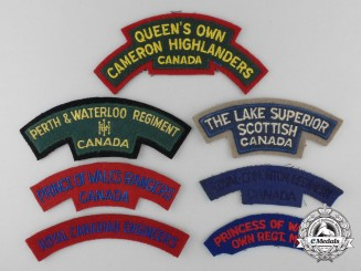 Canada. Seven Second War Shoulder Flashes