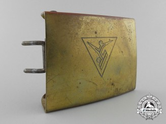 A 1930's Rare West - South African Hitler Youth (HJ) Belt Buckle