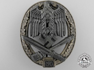 A General Assault Badge; Grade III (50) by Rudolf Karneth