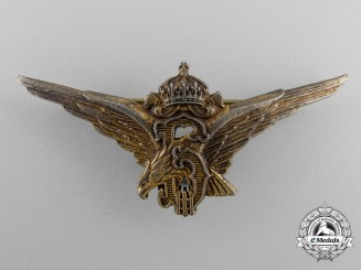 A Royal Bulgarian Air Force Graduation Badge; German Award