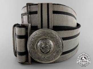 A German Labour Front Stosstrupp of the Werkschar Leader's Brocade Dress Belt with Buckle; Published