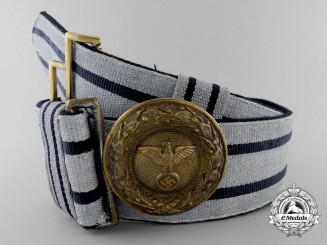 A Government Group 3 Official of the Highest Grade Career Brocade Dress Belt with Buckle; Published
