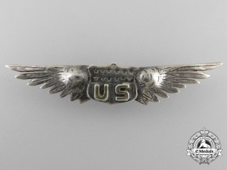 A Very Rare French Made American First War Pilot's Wing