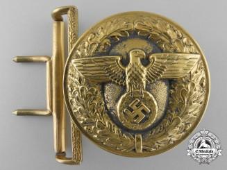 A Rare Late War Political Leader's Belt Buckle in Zinc by F.W. Assmann & Söhne