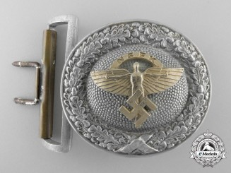A National Socialist Flying Corps Officer's Belt Buckle by Overhoff & Cie, Lüdenscheid