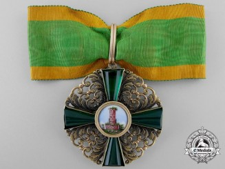 Baden, Grand Duchy. An Order of the Zähringer Lion in Gold, 1st Class Commander, c.1890