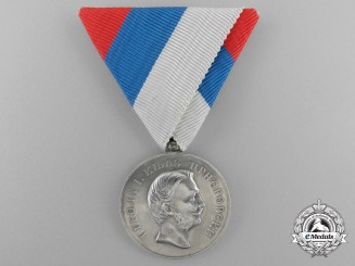 A First War French-Made Montenegrin Medal for Zeal; Silver Grade