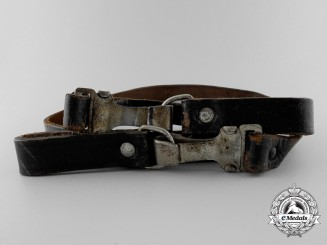 A Black Leather Strap by Julius Dinnebier Nachf., Lüdenscheid