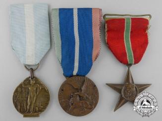 Three First War Italian Regimental Medals