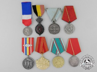 Eight European Medals, Decorations,  & Awards