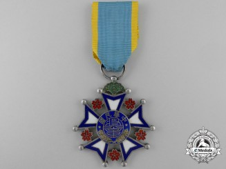 A Chinese Merit Medal of the Republic; Second Class (Hebei (Chihli) with Republican Decorations)