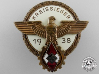 A 1938 Victors Badge in the National Trade Competition; Privately Engraved