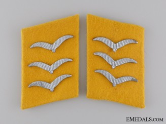 Set of Flight Feldwebel Collar Tabs
