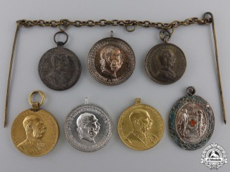 Seven Austrian Miniature Medals and Decorations