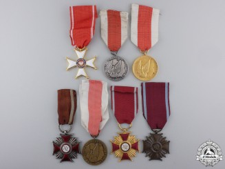 Seven Polish Medals & Awards