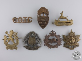 Canada. Seven Second War Badges