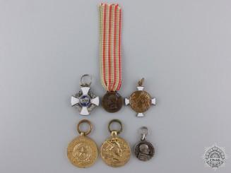 Six Italian Miniature Medals