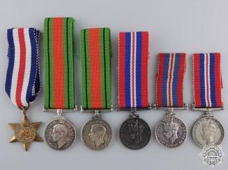 Six Miniature Second War Service & Campaign Medals